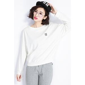 自由呼吸卫衣女春装韩版潮学生宽松圆领上衣套头大码外套