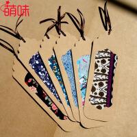 萌味 书签 中国风复古缕空布艺书签古风唯美丝带花边带包装盒学生创意礼品生日礼物(6张/套)