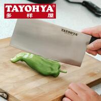 TAYOHYA多样屋 黑色经典切片刀 不锈钢材质 厨房菜刀坚固耐用