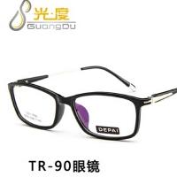 时尚方框学生眼镜框9076可配近视TR90眼镜架防辐射平光镜复古眼镜