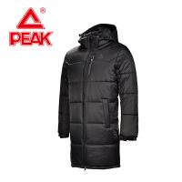 匹克男士棉衣 冬季厚外套新款 运动棉服保暖长款风衣F564061