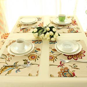 乐唯仕餐垫欧式餐桌布艺隔热防烫杯垫碗垫盘垫西餐垫长方形垫