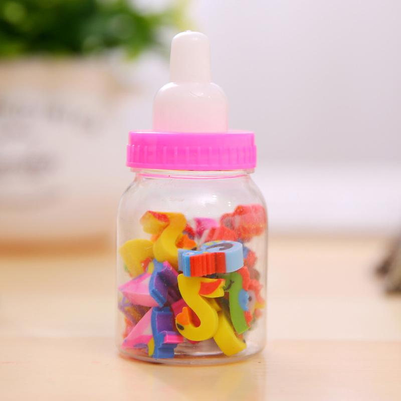 白领公社 卡通橡皮擦 卡通奶瓶橡皮擦儿童学习用品幼儿园礼品文具圣诞
