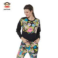 Paul Frank 大嘴猴【商场同款】女式圆领套头卫衣PFATT154049W