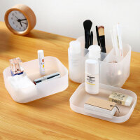 【支持礼品卡包邮】日本爱尚佳品办公文具收纳盒桌面浴室厨房收纳盒塑料S1004