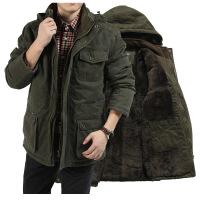 AFS JEEP棉衣男中长款冬装外套战地吉普冬季新款军装大码棉衣812