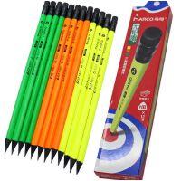 MARCO马可9007黑木三角彩色杆带橡皮头学生儿童铅笔HB