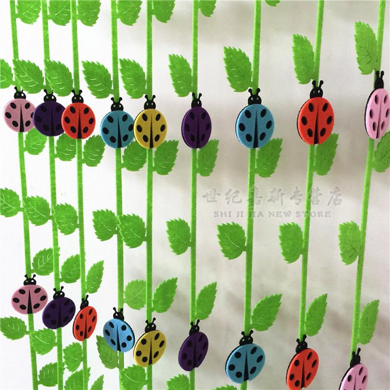 吊饰 幼儿园教室环境布置装饰吊饰 走廊空中 七星瓢虫款自带树枝条