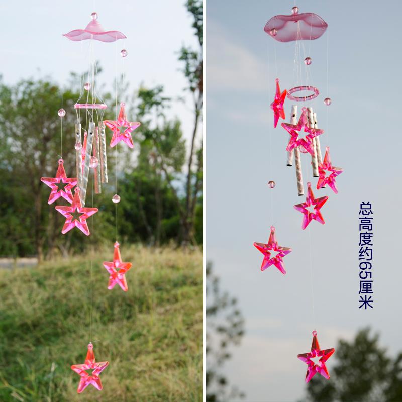 萌味 创意水晶风铃 圣诞礼品送老师同学男女生日节日礼物日式田园风铃