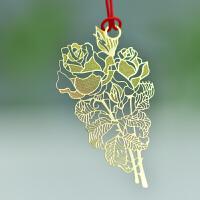 碳墨轩 物语系列 金色玫瑰 创意书签 当当自营