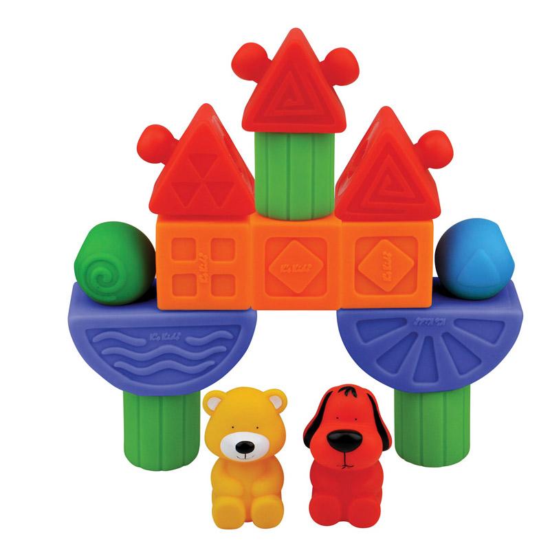 [当当自营]K's Kids 奇智奇思 趣智软积木 QKA10623【当当自营】适合18个月以上婴幼儿 包括5种不同形状和2个人偶