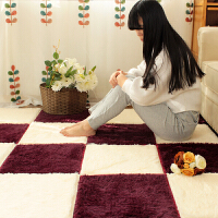 乐唯仕拼接丝毛丝绒地毯卧室客厅茶几地毯茶几办公地毯地垫门垫脚垫现代简约榻榻米地毯飘窗垫床边