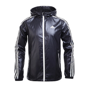 Adidas阿迪达斯男装 2017新款运动防风连帽风衣夹克外套 BR1558/BR1566