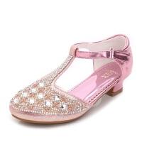 Hug Bear2016新款童鞋儿童高跟鞋韩版公主女童鞋包头拉丁舞蹈鞋女童水晶鞋