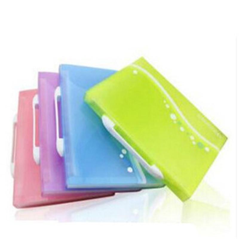 风琴夹_得力5873 多层包/风琴夹 a4/13格彩色文件袋清新事物包/资料包 颜色