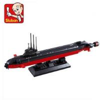小鲁班 仿真式拼装积木航母战斗群核潜艇 儿童开智拼插军事模型