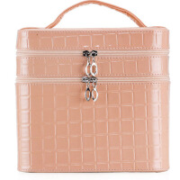 旅行化妆箱 手包式收纳包  手提双层化妆包    便携大号化妆品