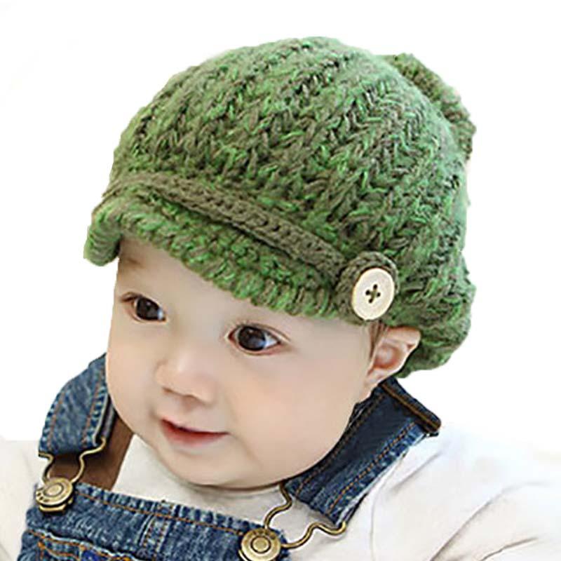 秋冬男童女童婴儿帽子 新生儿帽子 宝宝毛线帽 儿童手工针织帽