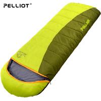 法国pelliot户外睡袋秋冬加厚成人睡袋保暖室内露营可拼双人睡袋