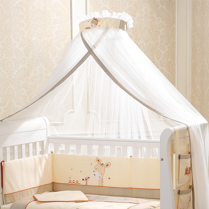 孩子家落地婴儿床蚊帐带支架