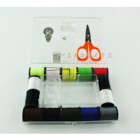 韩国家用缝补针线盒 多功能针线剪刀顶针穿针器套装便携式针线包针线缝纫缝补 一盒