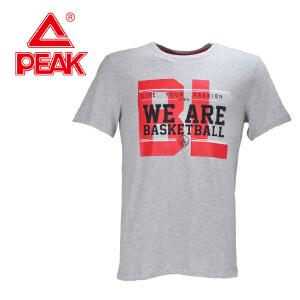 Peak/匹克夏季男装休闲时尚个性图案舒适透气百搭圆领短T F662007