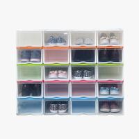 当当优品 抽屉式塑料防潮加厚透明鞋盒 6个装  颜色多选
