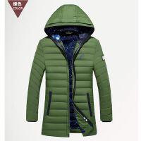 吉普盾男士中长款羽绒服冬季保暖外套16002D1651