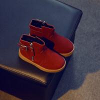 【冬季清仓】秋冬新款儿童鞋子女童靴子韩版轻便套筒小短靴单靴机车马丁靴LFTX