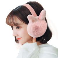 女冬季加绒保暖耳套  可调节可爱学生耳包耳罩  折叠毛绒耳捂