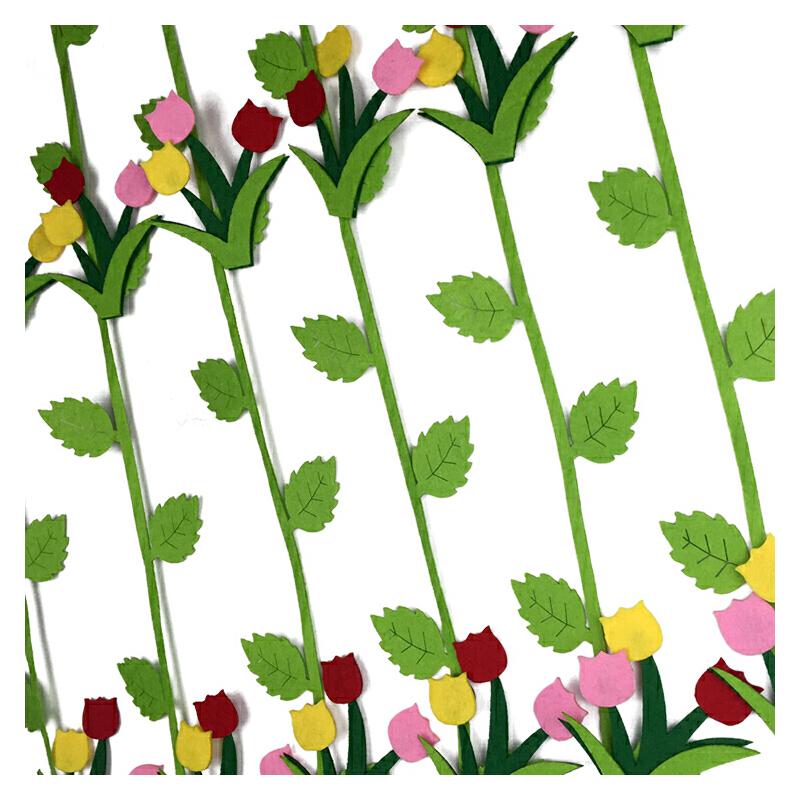 1米挂饰吊饰 幼儿园教室环境布置装饰吊饰 走廊空中 郁金香款自带树枝
