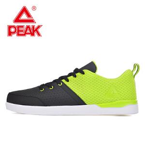 Peak/匹克夏季男休闲鞋运动时尚休闲舒适透气拼接色休闲鞋E62371B