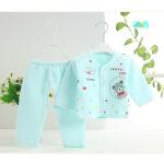 广伟GrandWay婴儿秋装套装 婴幼儿衣服纯棉加厚儿童保暖内衣套装居家内衣