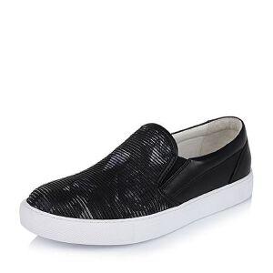Belle/百丽专柜同款秋季黑色/灰色滴胶编织布/牛皮男休闲鞋4MA02CM6