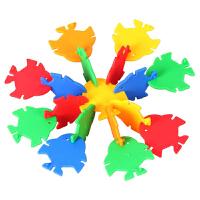 麦宝创玩具 鱼形拼插片 游乐园宝宝益智早教多颜色 视觉及创造力 幼儿园玩具 创意玩具