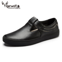Tigerwolf虎狼公社 懒人蹬真皮套脚板鞋男鞋潮鞋休闲鞋 时尚透气
