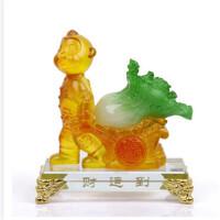 创意礼品 财运到金猴琉璃摆件十二12生肖猴子猴年大号开业乔迁风水工艺品