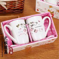 A046创意小熊陶瓷杯 牛奶杯杯子套装 礼品杯 情侣对杯