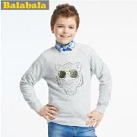 巴拉巴拉 balabala 男中童休闲百搭 长袖T恤 春装 童装