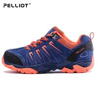 【618返场大促】法国PELLIOT户外登山鞋男女防滑秋冬登山徒步鞋儿童牛皮户外鞋