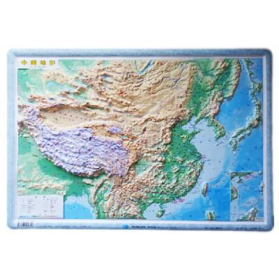 中国地图 立体地形图 54x37厘米凹凸 直观展示地理 地貌 地势_中国