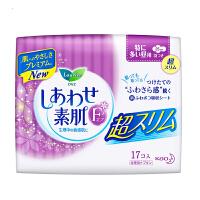 [当当自营] 花王 乐而雅 F透气棉柔 超丝薄特长日用护翼型进口卫生巾 25cm 17片