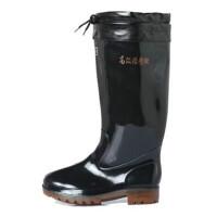 回力雨鞋男秋冬季橡塑雨靴男款保暖防滑耐磨加棉两用高筒雨鞋雨靴防水鞋857