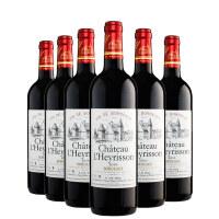 酒美网 法国原瓶进口红酒 波尔多雷里松堡干红葡萄酒 六支装