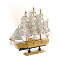 木质帆船模型生日礼物家装饰品地中海摆件手工艺品船礼品一帆风顺