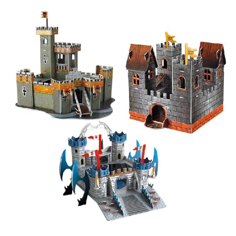 立体拼图纸模型 城堡建筑模型
