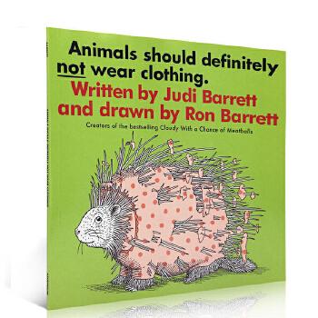英文原版绘本 Animals Should Definitely Not Wear Clothing 动物不穿衣服 吴敏兰 张湘君推荐 入门启蒙 英语图画书故事书