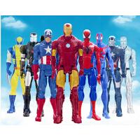 蜘蛛侠 钢铁侠 美国队长 金钢狼 可动人偶 模型公仔手办 男孩玩具 钢铁侠3