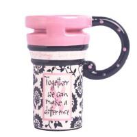 办公马克杯子  彩绘大陶瓷杯带盖勺水杯  创意情侣可爱马克杯子