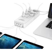【包邮】ORICO TPC-6A4U抗浪涌防雷插座USB插排手机智能充电插线板拖线板